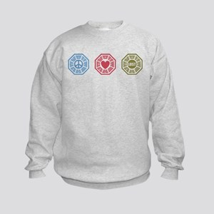 Peace Love Lost [dh_i] Kids Sweatshirt